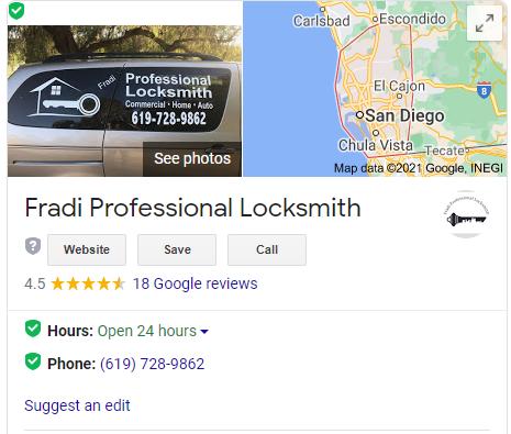 Locksmith in san diego google reviews